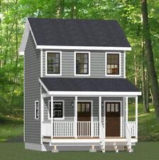 16x16 Tiny Duplex -- 441 sq ft -- PDF Floor Plan -- Model 23