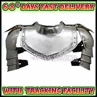 Medieval Gorget & Spaulders Re-enactment Knight Armor larp role-play theatre c30