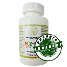 Vitamin K2 MK7 + D3 100 tablets extracted with natto / Free Shipping /