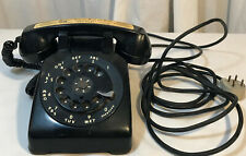 Vintage Bell System Classic Rotary Dial Desk Telephone Black Western Electic