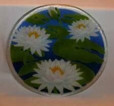 "11.25"" Peggy Karr Fused Glass Lily Pad Pond Plate GORGEOUS!"