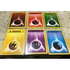 POKEMON CARTE WIZARD lot 6 energie energy 97-102 1ST 1ER EDITION SET DE BASE NEU