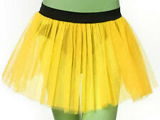 Plus Size Yellow Tutu Skirt Dance Bumble bee fancy costume Birth day Party USA