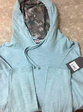 Brand New - FREE PLANET Light blue cotton hoodie jacket Size Small - NWT