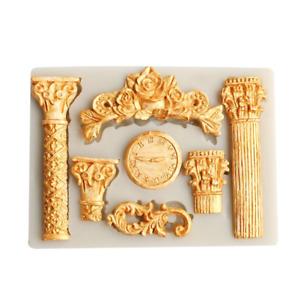 Rome Columns Decorating Tools Sugar Paste Mold Cup CakeTopper Decoupage M310