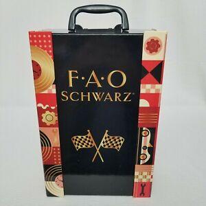 FAO Schwarz Puzzle RACEWAY Car Set with Wooden Cars STEM Toy Kit