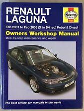 Haynes Manual - Renault Laguna - 2001-05 (X to 54 Reg) - PETROL & DIESEL