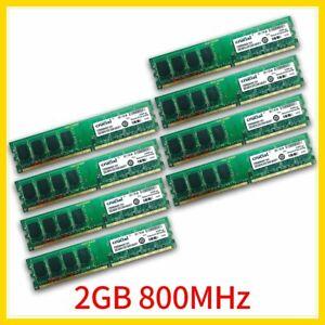 For Crucial 16GB 8x 2GB 1GB PC2-6400U DDR2 800MHz 1.8V PC Desktop Memory 777 LOT