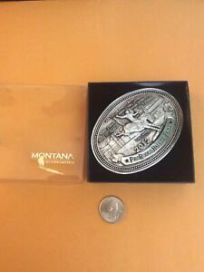 Pro Rodeo Hall of Fame Belt Buckle Montana Silversmiths Rare  2012 The Champ