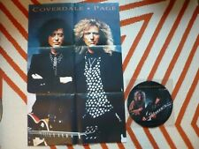 """Page & Coverdale Take Me For 12"""" Vinyl Picture Disc UK EMI & Poster Led Zeppelin"""