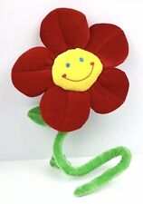 """Animal Alley Bendable Poseable Cute Smiling Flower Stuffed Plush Red 25"""""""