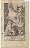 Bischof Bischofsstab ENGEL Original Kupferstich datiert 1662 Gott Jesus Taufe