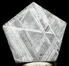 Gibeon Iron Meteorite Cabochon WIDMANSTATTEN Jewelry PENTAGON Pendant Wire-wrap