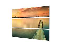 50x120cm Leinwandbild wunderschöne Winterlandschaft im Sonnenuntergang
