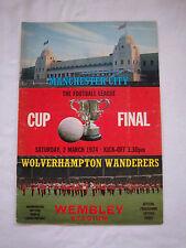 Orig.PRG   ENGLAND  League Cup  FINALE 1974   MANCHESTER CITY - WOLVERHAMPTON W.