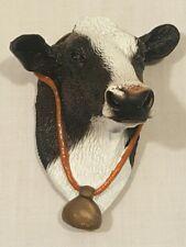 NEW VINTAGE 3D COW (HOLSTEIN) RUBBER REFRIGERATOR MAGNET