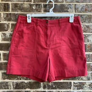 Lauren Ralph Lauren Womens High Rise Walking Shorts Red Blush Size 16