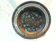 "VTG Ornate Lace Scroll Patina Tarnish Art Design Distress Silver Plate Serve 10"""