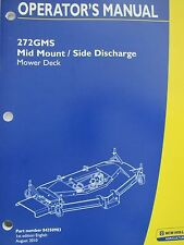 New Holland Operator's Manual for 272 Gms Mower Deck 84350903 August 2010