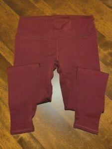 EUC Used Lululemon  Size 8 Leggings, Maroon - Full Length