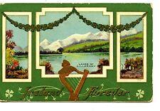 St Patrick's Day Holiday-Ireland Forever-Lakes of Killarney-Vintage Postcard