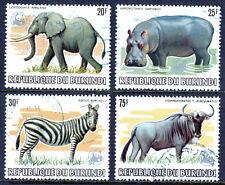 BURUNDI — SCOTT 593a//600a — 1983 WWF WILDLIFE OVPT ISSUE — USED — SCV $180