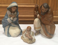 LLADRO NATIVITY - SET OF 3 FIGURINES:  JOSEPH, MARY & BABY JESUS - GRES FINISH