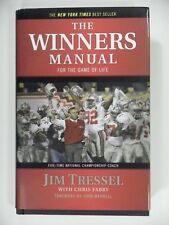 SIGNED by JIM TRESSEL The Winners Manual 2008 HC DJ Ohio State Buckeyes OSU