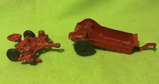 Vtg ~ Farm Toy Implements ~ Manure Spreader ~ Oliver ~ Planter ~ Metal ~ Scale