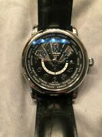 GENTLY USED MONTBLANC STAR WORLD TIME GMT 106464 IN STEEL