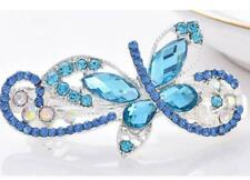Fashion Women Crystal peacock crystal Blue Barrette Hair Clip Clamp Hairpin New