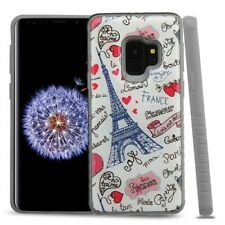 For Samsung Galaxy S9 Paris Eiffel Tower Hybrid Rubber Crystal Armor Case Cover