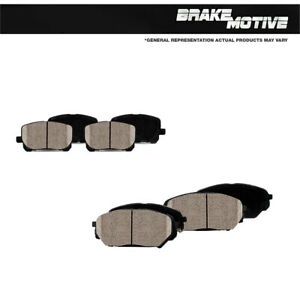 Front And Rear Ceramic Brake Pads For 2010 2011 2012 2013 Porsche Panamera
