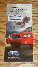 Original 2005 Subaru Forester Accessory Packages Foldout Sales Brochure 05