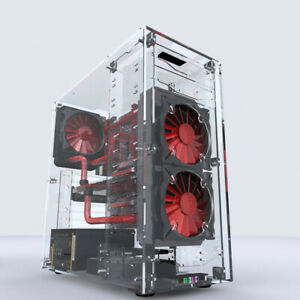 Geeek Acrylic DIY Transparent MATX/ATX/ITX Computer Water Cooling Open Case