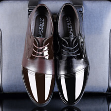 Men's Leather Dress Formal Oxfords Shoes Black/Brown Business Casual Shoes