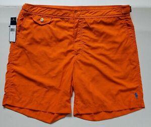 Polo Ralph Lauren Swim Briefs Shorts NEW NWT Men's 34 Orange
