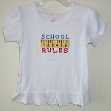 Brand New Southern Tots School Rules Ruler Top Girl's 2T