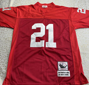 RARE Mitchell & Ness 49ers Jersey Deion Sanders Size 48 (not 1994 - No Stripes)