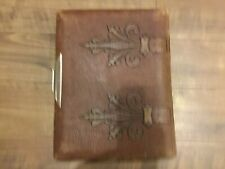 ANTIQUE VICTORIAN LEATHER PHOTOGRAPH ALBUM - ALBUM ARBORA