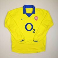 ARSENAL LONDON 2003/2004 AWAY FOOTBALL SHIRT JERSEY NIKE LONG SLEEVE SIZE L