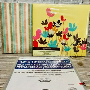 Two Recollection Scrapbook Albums 12x12 10 pages CD Pocket Bonus Refills