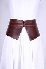 Asos Ladies Glamour Fashion Big Leather Brown Belt