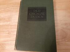 Der Grosse Duden, 1929, Lexikon, Nachschlagewerk, selten noch mit z geschrieben