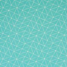 Stoff Baumwolle beschichtet Swafing Luna Smaragd/weiß Motiv abstrakt 160cm