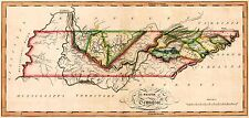 MAP ANTIQUE LEWIS ATLAS 1817 TENNESSEE STATE LARGE REPLICA POSTER PRINT PAM0986