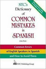 NTC's Dictionary of Common Mistakes in Spanish By John Pride