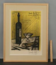 Large 1964 Vintage BERNARD BUFFET Hand Signed Lithograph Print, BREAD & WINE