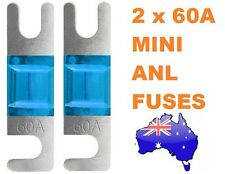 2 x 60AMP Mini ANL Fuse for Car Amplifier Wiring Kit Fuse Holders 60A - Midi AFC