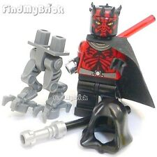 SW670hc Lego SW Darth Maul Minifigure w/ Mechanical Legs & Accessories 75022 NEW